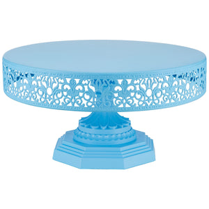 12-Inch Blue Metal Wedding Cake Stand | Amalfi Decor AU