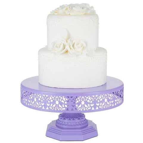 12-Inch Lavender Purple Metal Wedding Cake Stand | Amalfi Decor AU