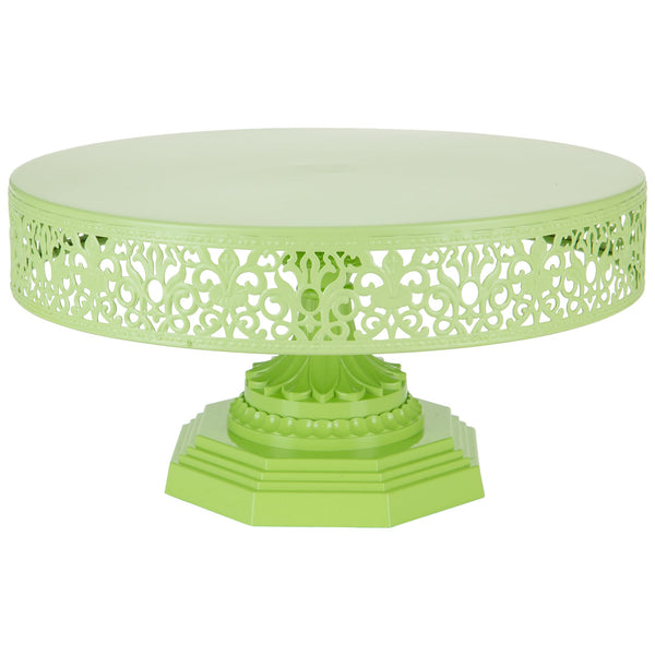 12-Inch Lime Green Metal Wedding Cake Stand | Amalfi Decor AU
