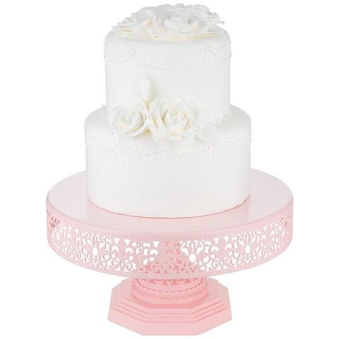 12-Inch Pink Metal Wedding Cake Stand | Amalfi Decor AU
