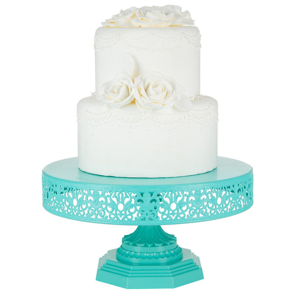 12-Inch Teal Metal Wedding Cake Stand | Amalfi Decor AU