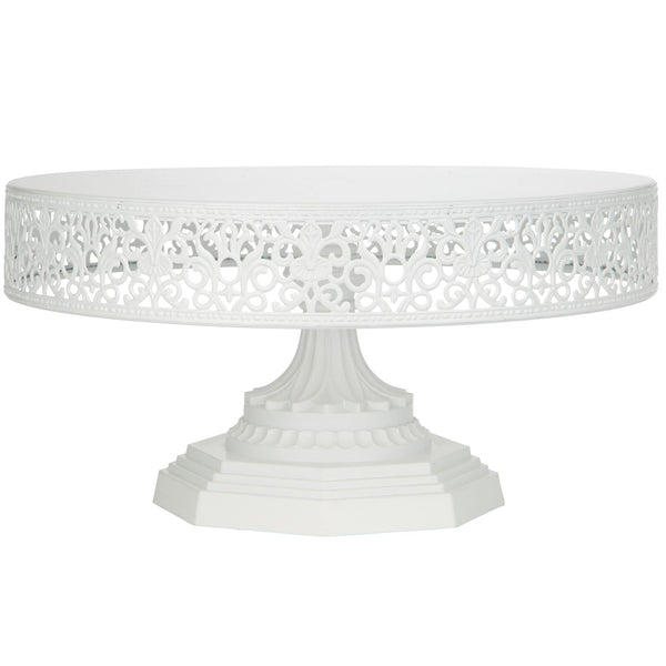 12-Inch White Metal Wedding Cake Stand | Amalfi Decor AU