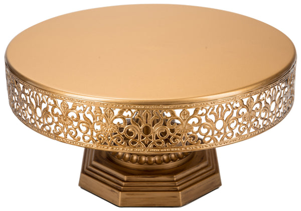 12-Inch Antique Gold Metal Wedding Cake Stand | Amalfi Decor AU