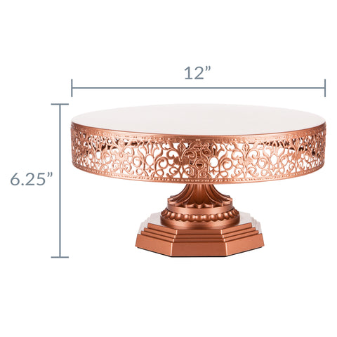 35 cm (14-inch) Wedding Cake Stand |Rose Gold| Victoria Collection CS312VR