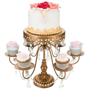 6 + 1 Antique Gold Cupcake and Cake Stand | Amalfi Decor AU