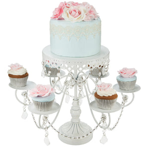 6 + 1 White Cupcake and Cake Stand | Amalfi Decor AU