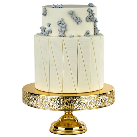gold plated wedding cake stands 14 inch gold plated wedding cake stand amalfi decor au 14805