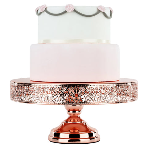 14-Inch Rose Gold Plated Wedding Cake Stand | Amalfi Decor AU
