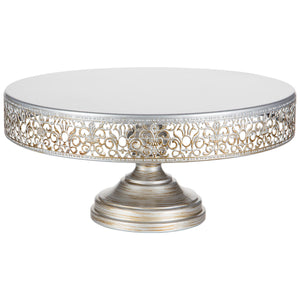 14-Inch Antique Silver Wedding Cake Stand | Amalfi Decor AU