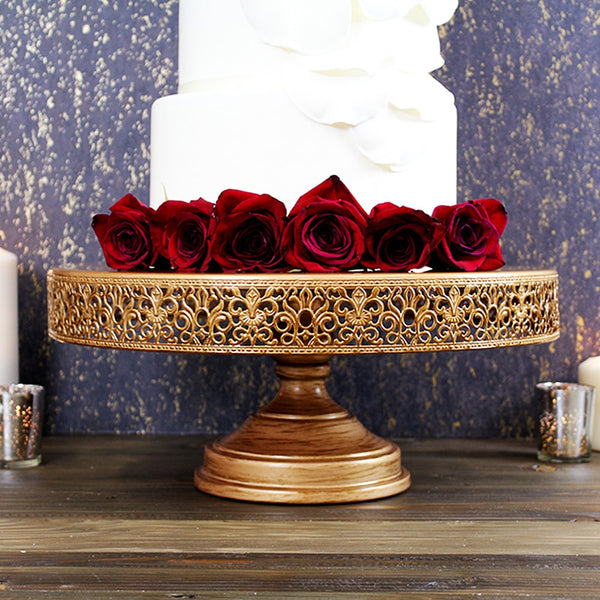 16-Inch Antique Gold Wedding Cake Stand | Amalfi Decor AU