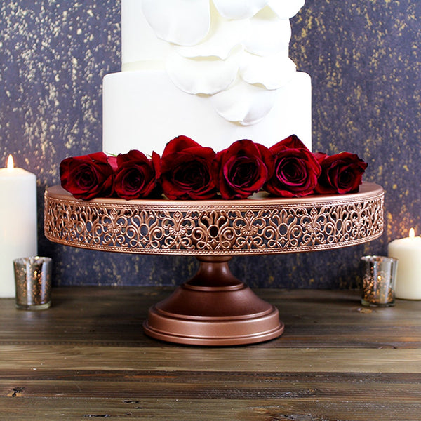 wedding cake stand rose gold 40cm 16 inch gold wedding cake stand amalfi decor au 25645