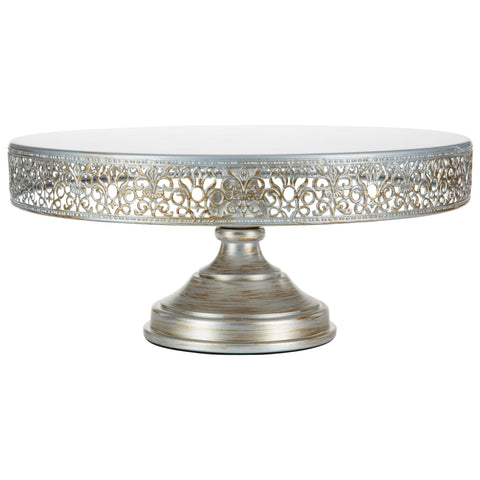 16-Inch Antique Silver Wedding Cake Stand | Amalfi Decor AU
