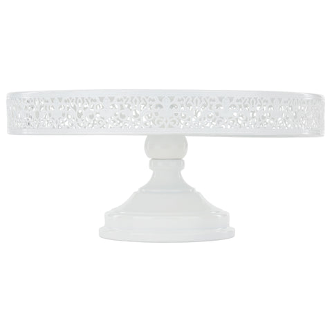 35 cm (14-inch) Metal Cake Stand | White | Isabelle Collection