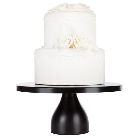 12-Inch Black Modern Wedding Cake Stand | Amalfi Decor AU