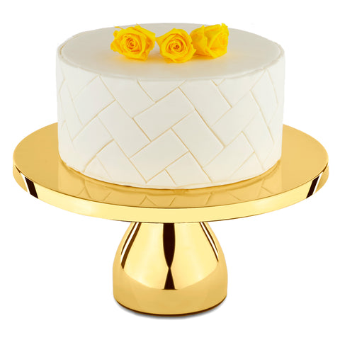 12-Inch Gold Plated Modern Wedding Cake Stand | Amalfi Decor AU