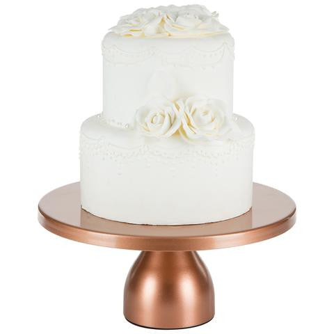 12-Inch Rose Gold Modern Wedding Cake Stand | Amalfi Decor AU