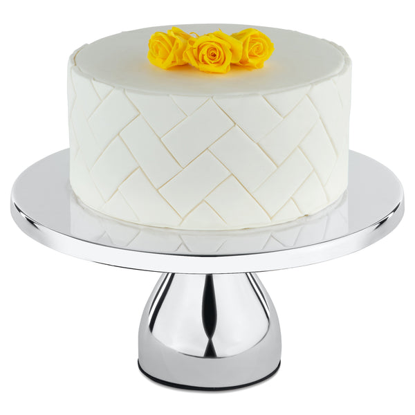 12-Inch Silver Plated Modern Wedding Cake Stand | Amalfi Decor AU