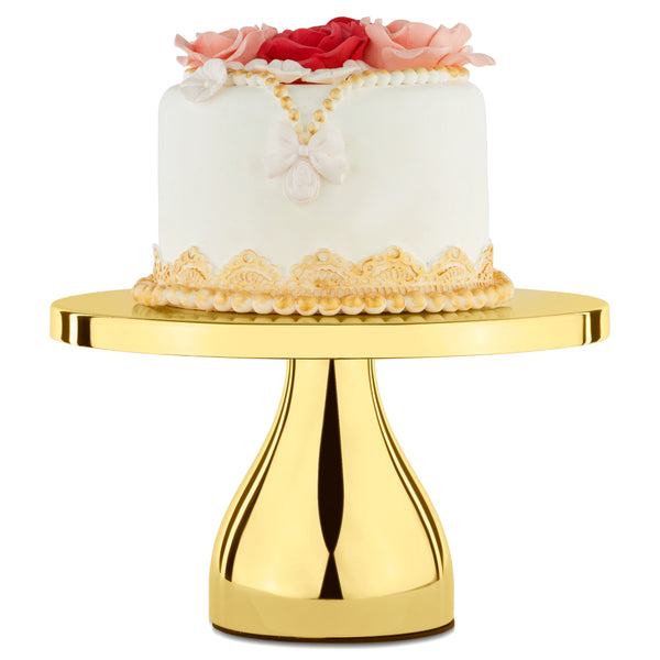 10-Inch Gold Plated Modern Cake Stand | Amalfi Decor AU