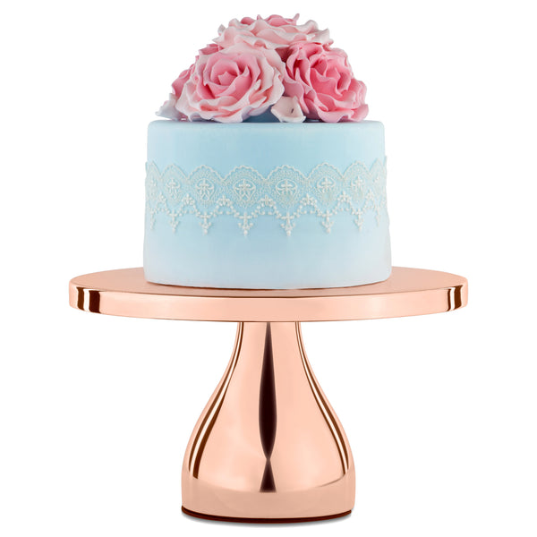 10-Inch Rose Gold Plated Modern Cake Stand | Amalfi Decor AU