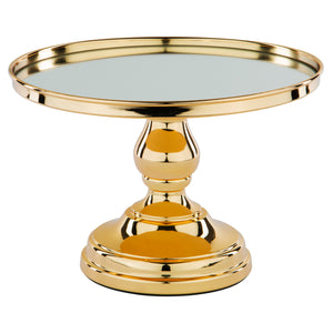 10-Inch Gold Plated Modern Mirror Wedding Cake Stand | Amalfi Decor AU