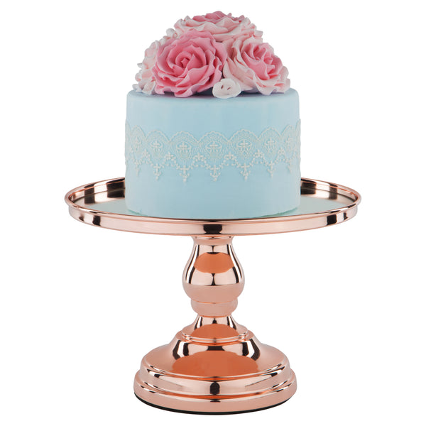 10 inch rose gold plated modern mirror wedding cake stand amalfi decor au. Black Bedroom Furniture Sets. Home Design Ideas