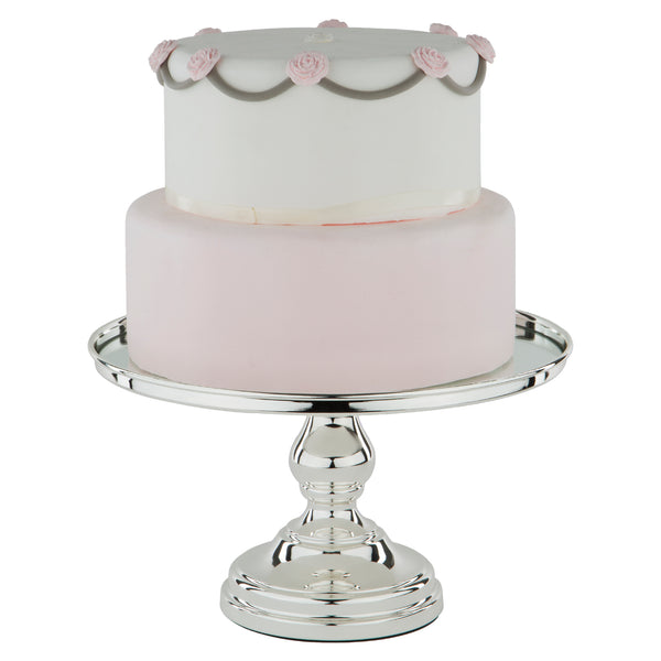 30 cm (12-inch) Round Mirror-Top Cake Stand | Silver Plated | Le Gala Collection