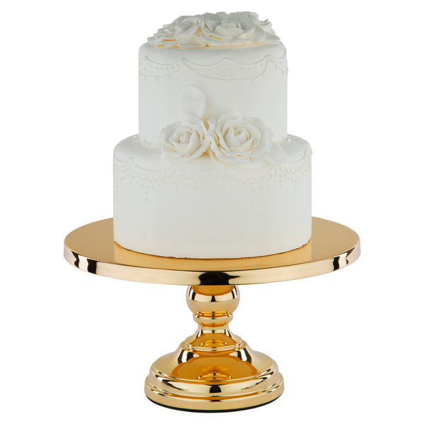30 cm (12-inch) Flat-Top Cake Stand | Gold Plated |      Le Gala Collection