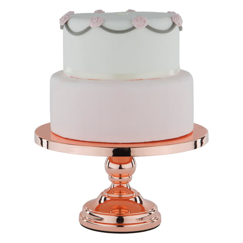 30 cm (12-inch) Flat-Top Cake Stand | Rose Gold Plated |      Le Gala Collection