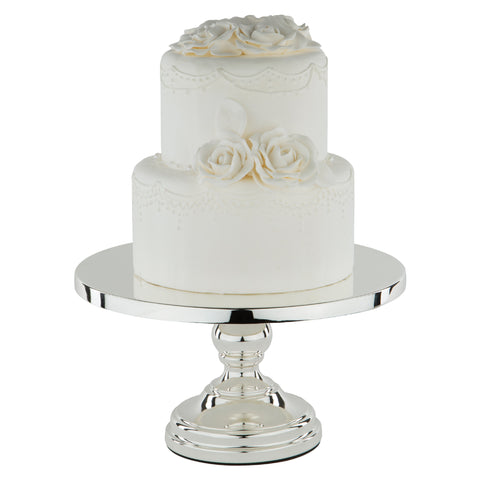 30 cm (12-inch) Flat-Top Cake Stand | Silver Plated |      Le Gala Collection