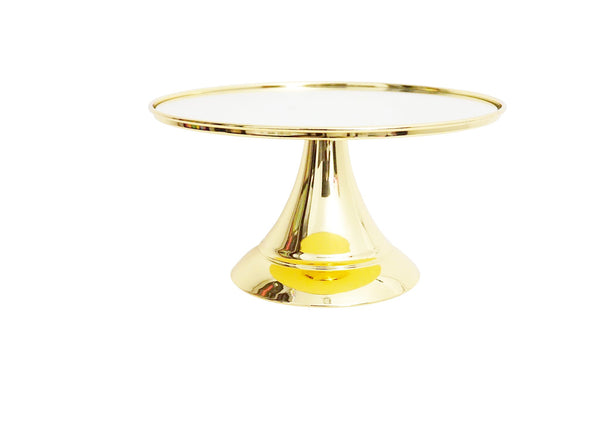 25 cm (10-inch) Round Modern Gold Plate  Mirror Cake stand  Angelique collection CSM25GX