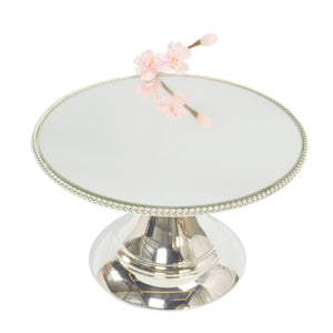 35cm (14 inch) Silver Plated Mirror top with Rope Design  Flat top Alyssa collection