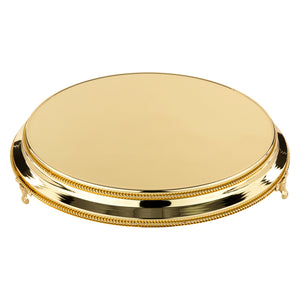 "40cm/16"" Plateau  Gold Plated stands standing 9.5cm High"