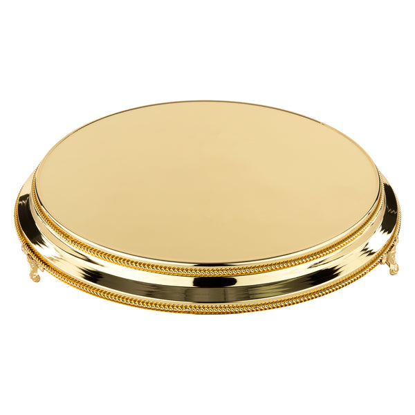 "35cm/14"" Plateau Gold Plated stands standing 9.5cm High"