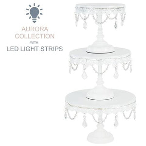3-Piece White LED Cake Stand Set | Amalfi Decor AU