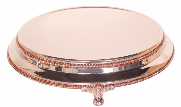"35cm/14"" Plateau  Rose Gold Plated stands standing 9.5cm High"