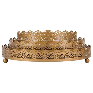3-Piece Decorative Tray Set | Gold | Sophia Collection ST001SG