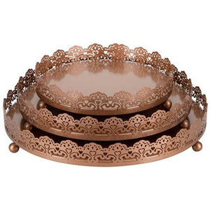 3-Piece Decorative Tray Set | Rose Gold | Sophia Collection ST001SR