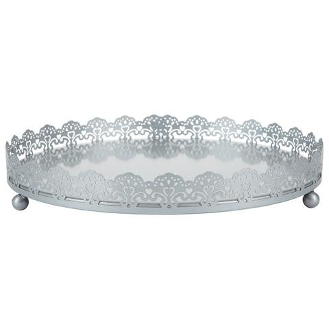 3-Piece Decorative Tray Set | Silver | Sophia Collection