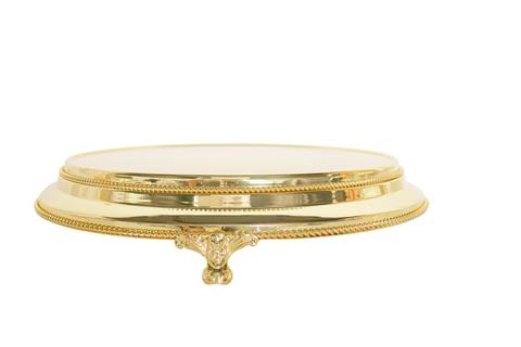 "45cm/18"" Plateau  Gold Plated stands standing 9.5cm High"