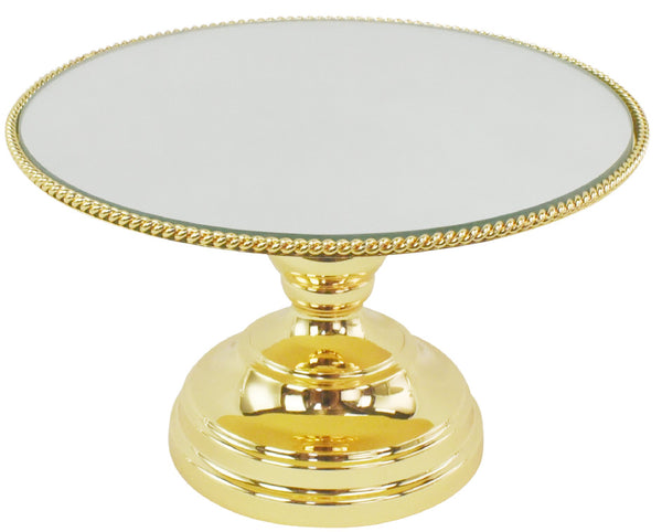 "35cm (14"") Gold Plated Mirror top with Rope Design  Flat top Juliette collection"