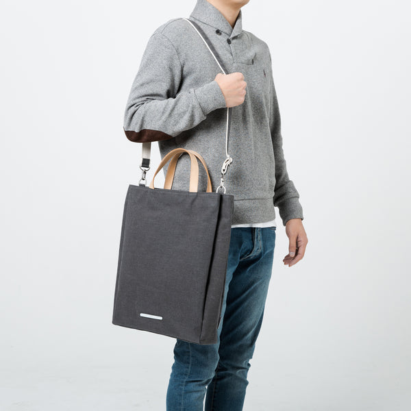 'Triple Tote 204' Raw Waxed Blue