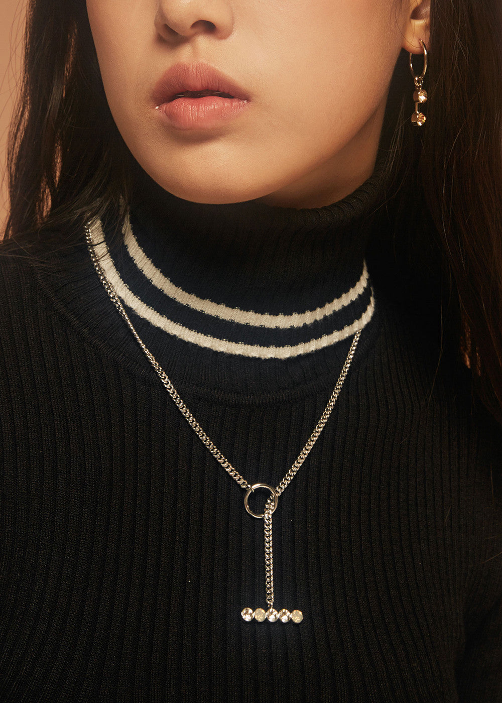 'Night Streets' Adjustable Lariat Necklace 10K Gold