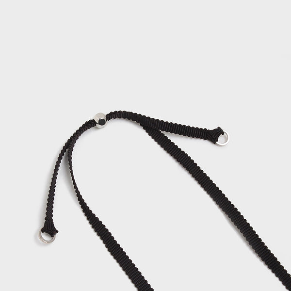 'Night Streets' Adjustable Ribbon Choker Black