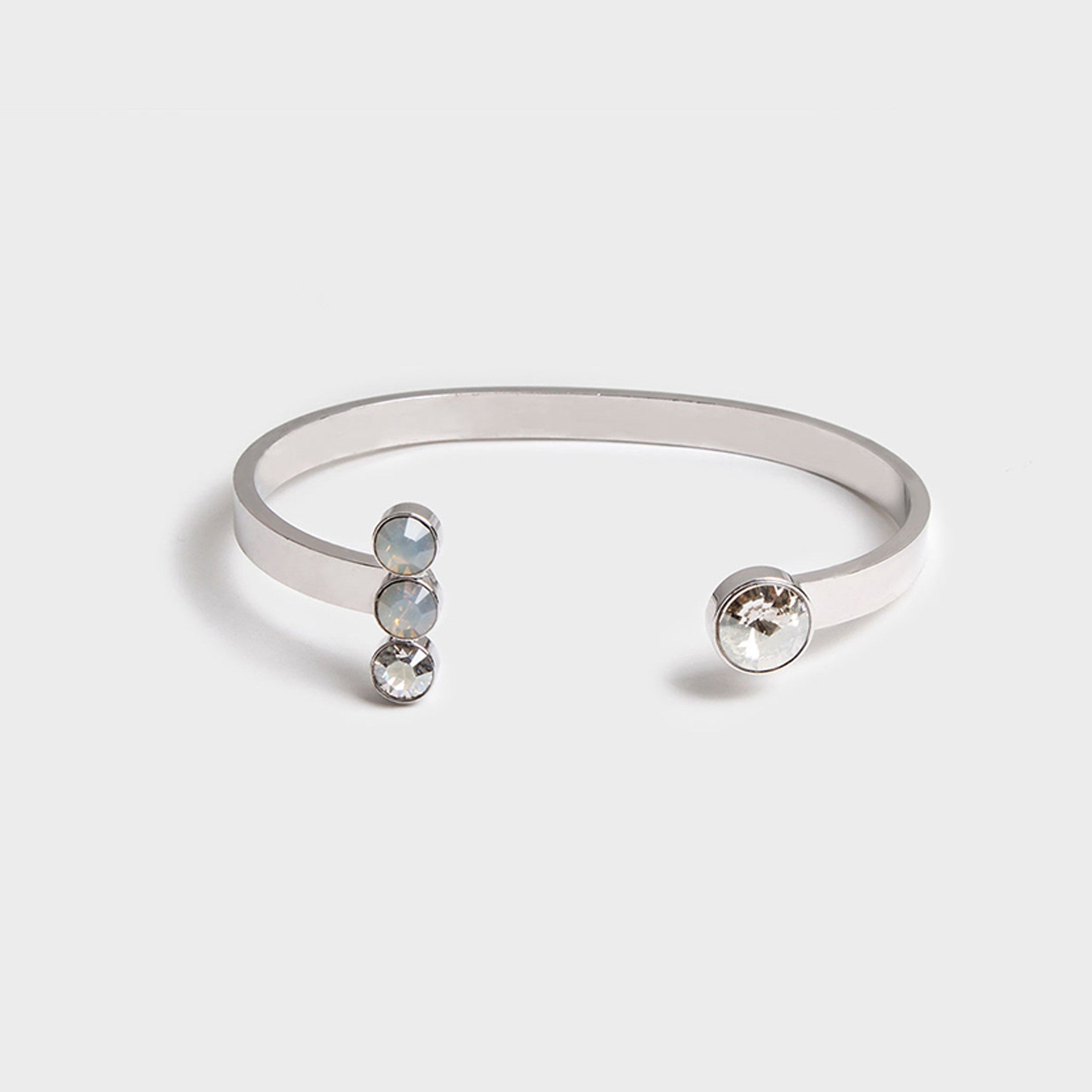 'Night Streets' Gemstone Cuff White Gold