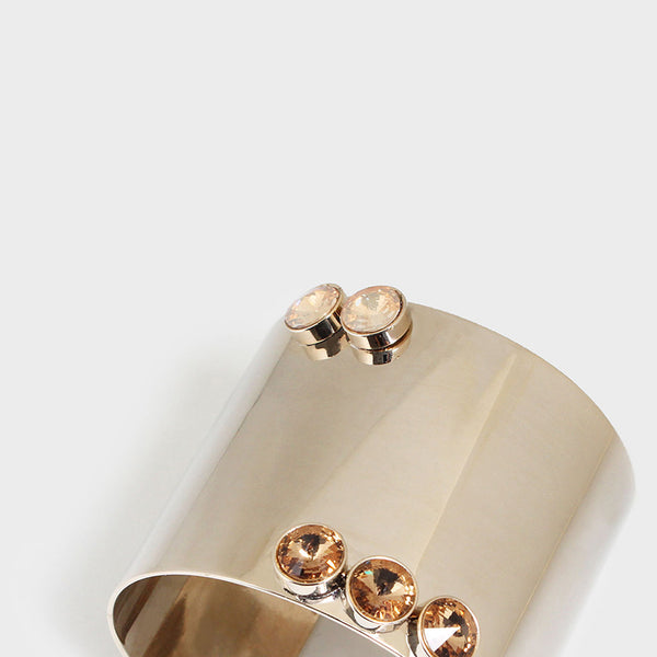 'Night Streets' Gemstone Statement Cuff 10K Gold