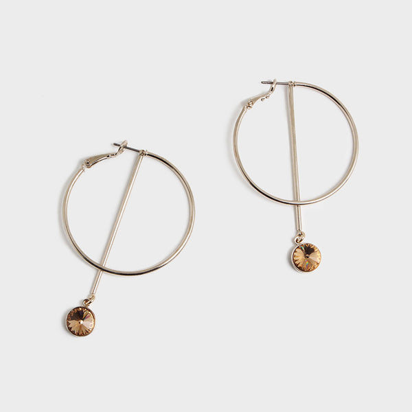 'Night Streets' Medium Hoop Earrings 10K Gold
