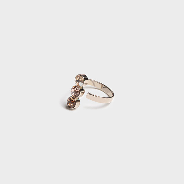 'Night Streets' Gemstone Ring 10K Gold