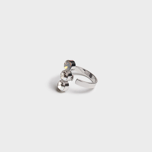 'Night Streets' Gemstone Ring White Gold