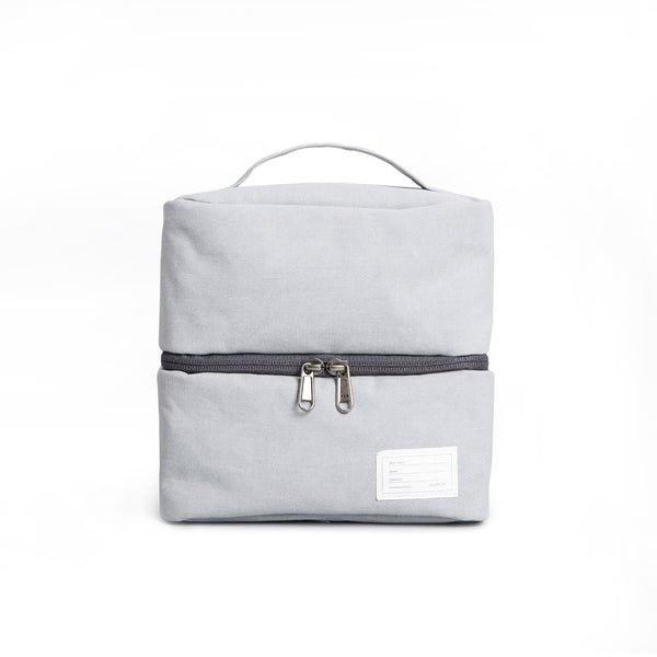 'Travel Pouch 130' Raw Waxed Gray