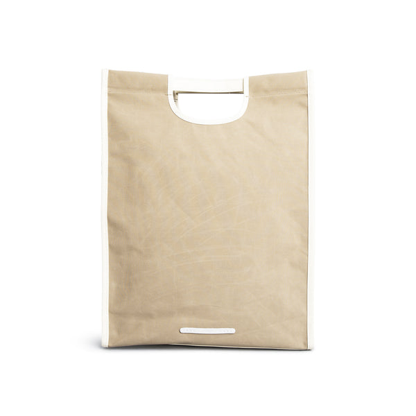 'R Tote 203' Raw Waxed Beige